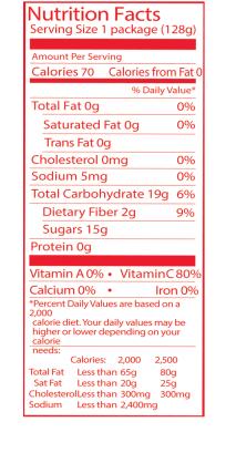 original detailed nutrition